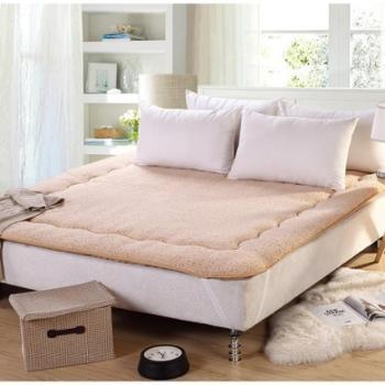 羊羔绒床垫可折叠地铺加厚单人双人学生床上用品加厚褥子榻榻米