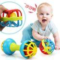 新生宝宝摇铃软胶牙胶球手抓健身球 婴幼儿早教益智玩具0-1岁