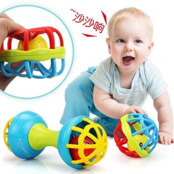新生宝宝摇铃软胶牙胶球手抓健身球婴幼儿早教益智玩具0-1岁