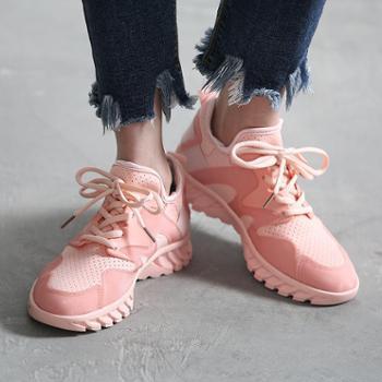 2018网红女鞋夏季老爹鞋增高莱卡布透气韩版休闲运动鞋子