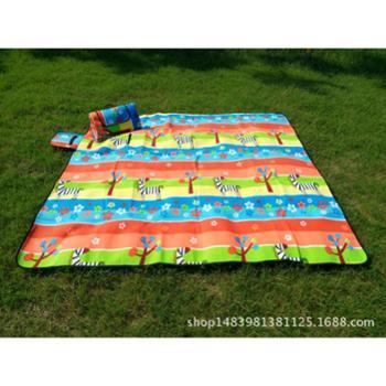 户外防潮垫防水地垫绒面200X200加厚野餐垫定制厂家多人沙滩垫