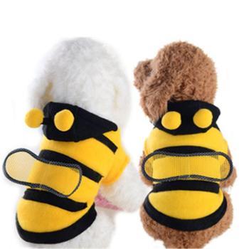 宠物蜜蜂装狗狗小蜜蜂变身装秋冬两脚宠物衣服泰迪狗衣服