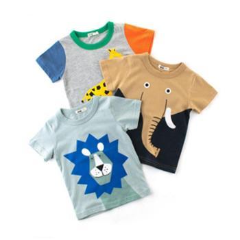 童装新品儿童短袖T恤男童半袖宝宝汗衫孩子的衣服ins