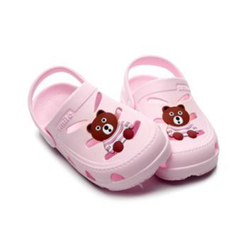 儿童凉鞋男韩版软底宝宝卡通包头凉鞋两穿拖鞋女