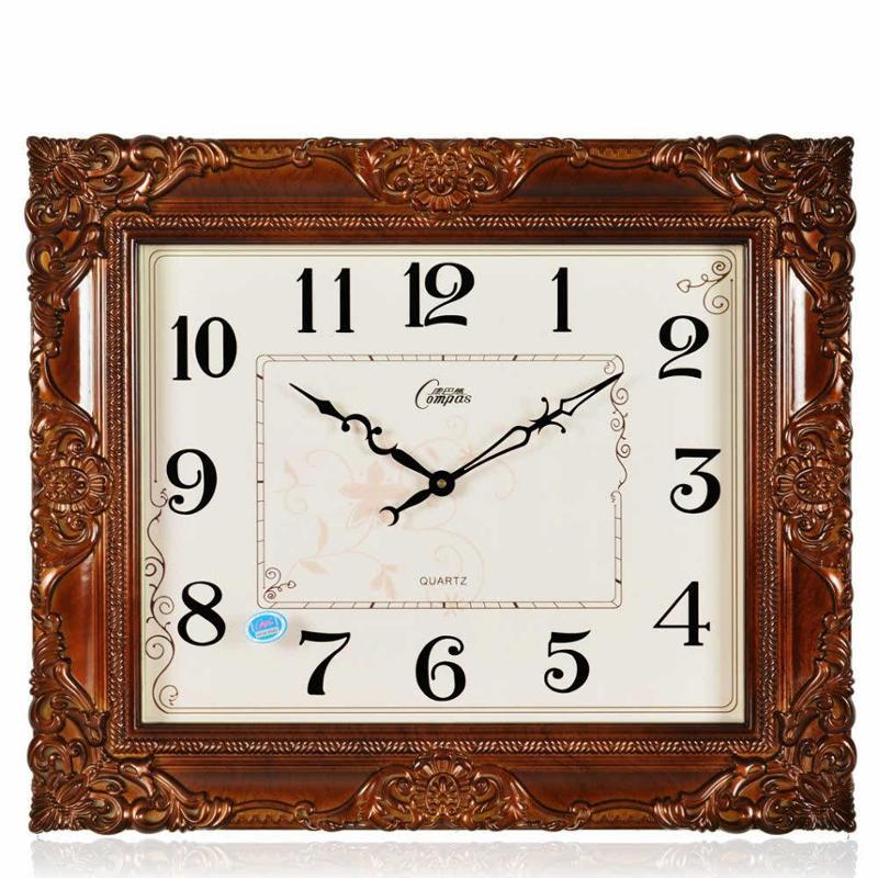 特大号欧式复古田园时钟客厅办公室石英钟挂钟表