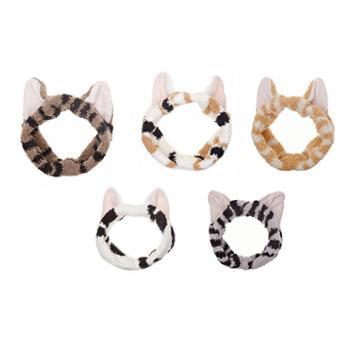 美浴生活猫耳朵束发带日系束发带植绒束发带猫耳朵(直径10cm)