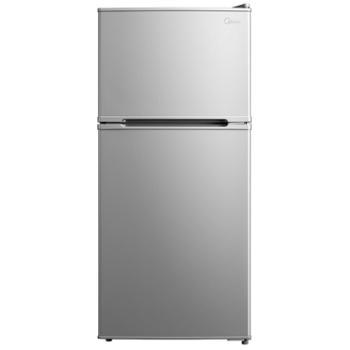 美的112升双开门小冰箱BCD-112CM迷你冷藏冷冻宿舍办公出租