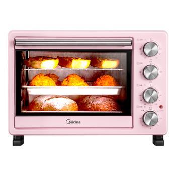 美的25升多功能电烤箱PT25A04层烤位独立控温