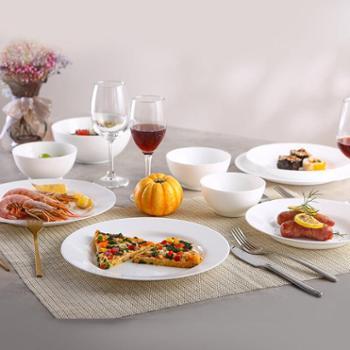 乐美雅餐具组合家用钢化玻璃餐具套装-迪瓦丽时光餐具10件套