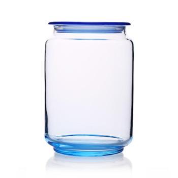 乐美雅凝彩冰蓝储物罐0.75L-J0106