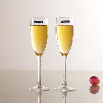 乐美雅品位香槟杯红酒杯160ml无铅玻璃酒杯G9470(2只装)