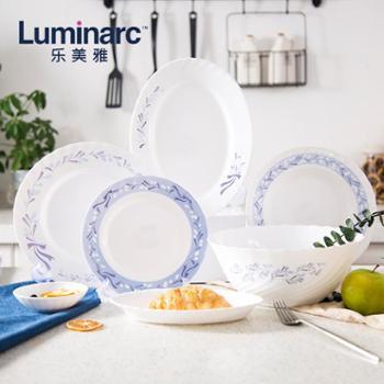 乐美雅钢化玻璃餐具套装-特瑞欧微风餐具10件套