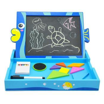 特宝儿 儿童家用黑板 双面儿童画板套装 宝宝画画板磁性写字板