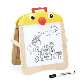 特宝儿儿童画板双面磁性写字板家用宝宝涂鸦板1-3岁小黑板画画板