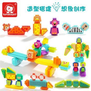 特宝儿字母动物鬃毛积木150粒儿童益智玩具积木