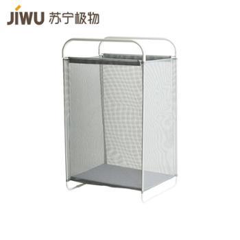 【苏宁极物】折叠透气脏衣篮 灰色 大号