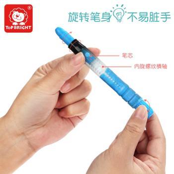 特宝儿旋转蜡笔幼儿童画笔套装幼儿园安全可水洗宝宝涂鸦彩笔 120228