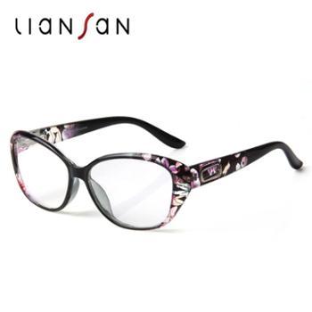 恋上老花镜女士超轻便携智能老人眼镜高清防疲劳时尚优雅中年老光镜