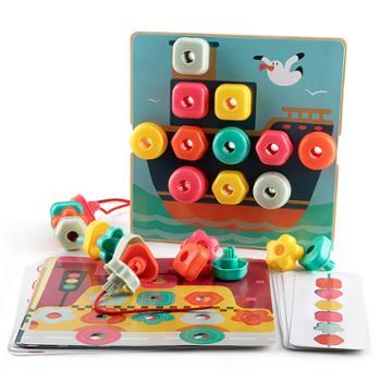 特宝儿儿童彩虹堆叠串珠拼插形状认知排序3-6岁早教想象力益智玩具 120450