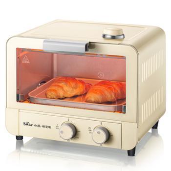 小熊 Bear 电烤箱 多功能家用迷你小型烘焙蒸汽烤箱15L烘烤蛋糕面包饼干机 DKX-A15J1金色