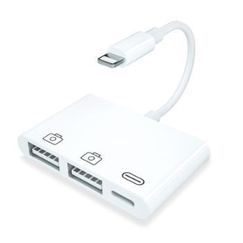 MKING 适用于苹果手机读卡器手机otg多功能单反相机套件SD/TF卡U盘内存卡USB通用型ipad转换器iPhonex转接头