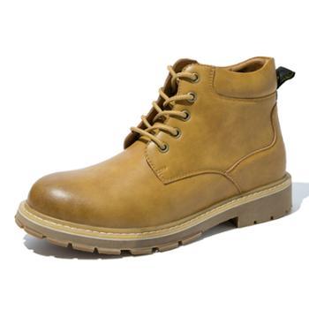 奥康男鞋马丁靴系带街头风工装短靴户外休闲鞋男潮鞋