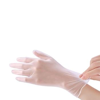 艾优PVC一次性食品级耐磨防滑零触感餐饮烘焙医用防护不伤手手套