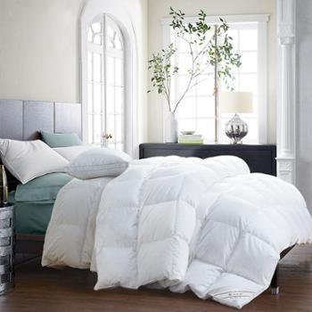 凯诗风尚 爱尚系列80支贡缎白鹅绒被 加厚冬被