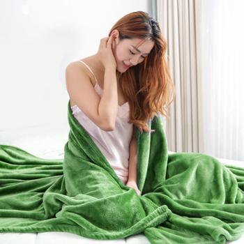 凯诗风尚 欧美专柜同款精美定制法兰绒毯 多功能毯子 盖毯床单