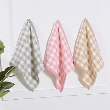 凯诗风尚方巾米妮系列纱布方巾面巾洗脸巾洁面毛巾一条装