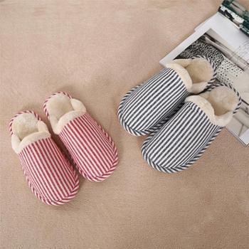 凯诗风尚费格罗条纹超柔拖鞋舒适保暖家居鞋