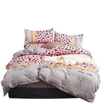 凯诗风尚植物羊绒磨毛四件套活性印花床单被套1.5-1.8米床品小幸运