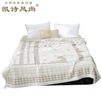 凯诗风尚全棉四层纱布毯空调被糜鹿150*200cm