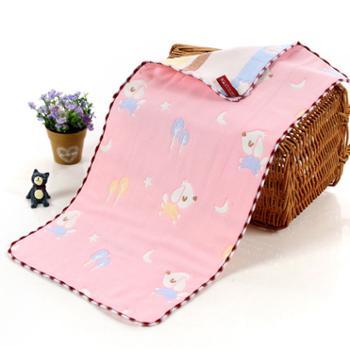 凯诗风尚美馨系列纱布童巾粉色月亮