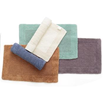 凯诗风尚全棉双回字长毛地垫客厅浴室门垫防滑垫多色可选