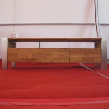 进口白橡木家具非柞木家具欧式家具实木电视柜钢腿电视柜
