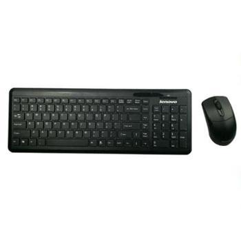 联想KM490B 无线键鼠套装 静音键盘 经典办公商务系列 无线键盘鼠标