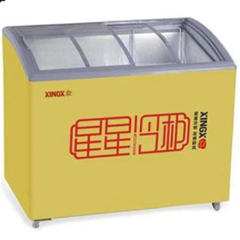 星星SD/SC-368jY卧式冰柜商用圆弧雪糕冷冻柜饮料展示柜超市冷柜