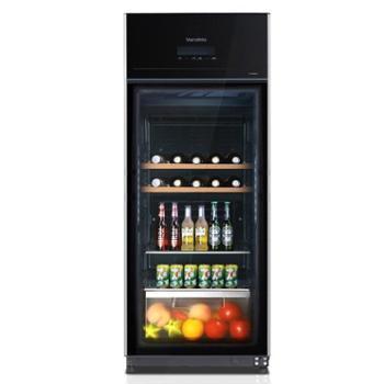 Midea美的JC-165GEV红酒柜恒温酒柜家用商用红酒展示冰吧左开冰柜
