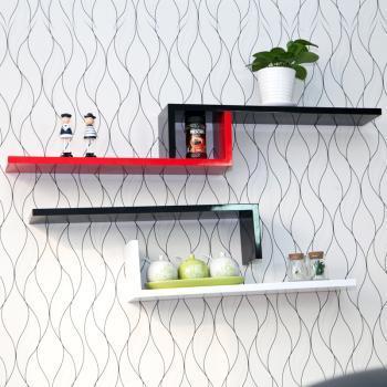 自由色彩烤漆隔板壁架搁板创意壁挂架装饰架置物架