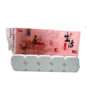 丽邦幸福生活4层1.3kg*2提卫生纸妇婴纸巾婴儿中长卷纸