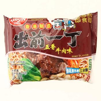 香港进口出前一丁五香牛肉面 100g 方便面