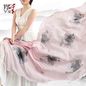 羚羊早安真丝围巾sj608