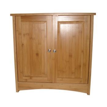 新品天然竹制环保厨房水槽柜下水柜