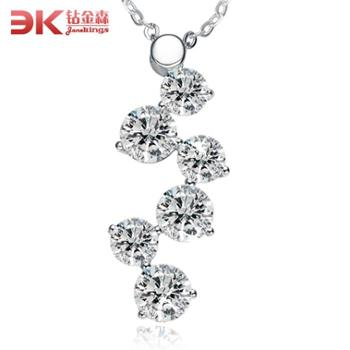 925纯银时尚豪华镶钻项链幸运星转运可调节吊坠韩版时尚女