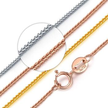 钻金森18K玫瑰金项链肖邦链黄金白金锁骨链