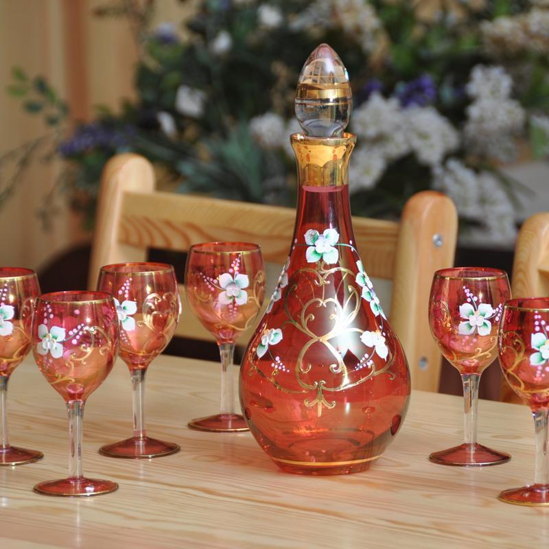 红海玻璃手工玻璃酒具玻璃杯工艺品家居饰品创意礼物