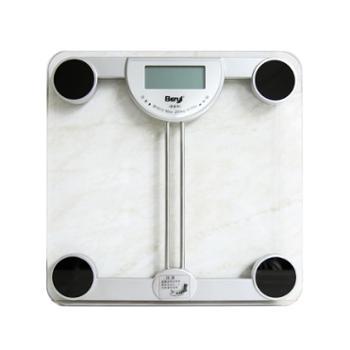 贝雅(beryl)超薄方形人体秤电子秤健康秤BY810