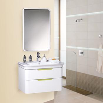 益谷卫浴(eogoo)浴室柜组合柜 实木洗手盆柜 橡木洗脸盆卫浴柜 EG070303