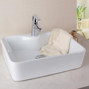 香港益谷卫浴(eogoo)高温烧制方形洗手盆/洗脸盆/艺术盆EG080104